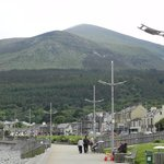 Newcastle beachfront with Slieve Donard in the background