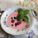 Strawberry Fruit Soup with berries