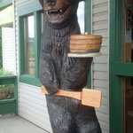 Merlin's Bear Carved Statue