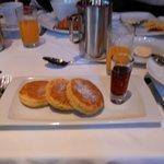 Quinoa pancakes for breakfast