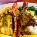 ROASTED TRISTAN DA CUNHA LOBSTER TAIL; Half pound, garlic basil glazed, sustainable...