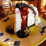KIMO'S ORIGINAL HULA PIE; Oreo cookie crust, macadamia nut ice cream, hot fudge & whipped cream.