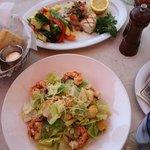 Shrimp Caesar Salad & Grilled Pacific Swordfish