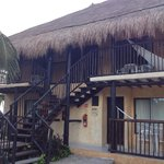 The building we stayed in. We loved the hammocks and thatched roof