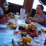 The remains of a crazy cajun feast...