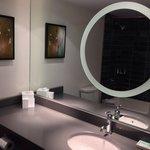 Nice bathroom with backlit mirror