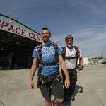 Walking to plane
