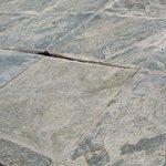 Damaged ground