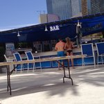 Nice Bar area, right behind pool