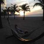Hammocks on the beach are a nice touch!