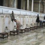 Washing up before prayers