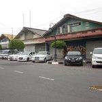Shops beside Global Hotel