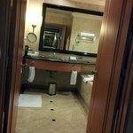 Our amazing bathroom (double doors, huge mirror)