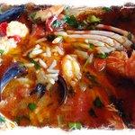 The yummy seafood rice