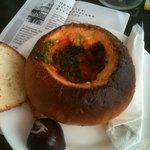 Чорба: фасолевый суп в хлебе