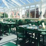 Breakfast in conservatory the whole building was spotless