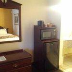 Room had a microwave & mini-fridge