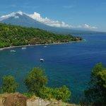 Jemeluk Beach and Mt Agung