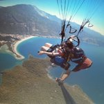 paragliding with gravity and pilot murat