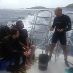 Getting ready to dive with Ben.