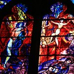 Beautiful stained glass windows by Chagall