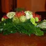Flowers on the reception