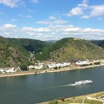 View of Rhine from the top of the castle