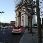 Arc de Triomphe 5 mins walk from hotel