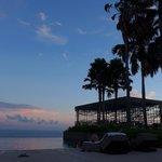 Cabana during sunset