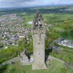 The Monument offers stunning views across the city of Stirling and the countryside beyond