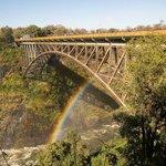 the railway bridge between Zambia and Zimbabawe