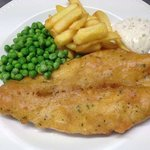 Beer Battered Haddock and Chips at Castles Restaurant