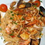 Our pescatore pasta special (seafood pasta)