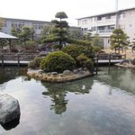 Hotel inner yard (the pol is not for bathing, just a landskape one)