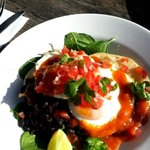 Mexican breakfast- Eggs and refried beans