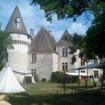 parc intèrieur château de Bridoire