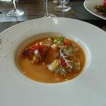 ravioles de St Pierre jus de coquillages