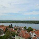 The Danube river and Crvenka