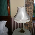 Bedside lamp, nowhere to plug it in