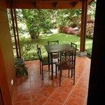 Little private patio area