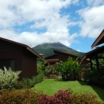 View of volcano from villa 20