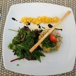 Tartare de Daurade Coryphène, mangue poivrée et herbes fraiches