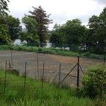 tennis court needs a bit of attention!