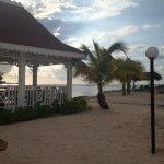 Beach massage area
