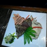 Tuna Steak with Oyster mushrooms