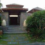 Door to villa