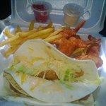 Fish Tacos w/ Shrimp