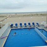Heated pool overlooking the ocean!