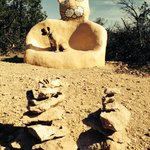 Cat Art Seat.....hiking discoveries