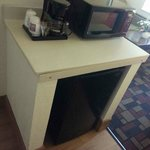 Coffee Maker, Microwave, Mini Refrigerator
